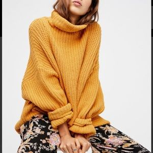 Free People Swim Too Deep Pullover Yellow